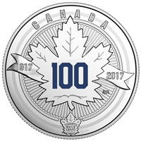 (Pre-Order) 2017 Canada $3 100th Anniversary of the Toronto Maple Leafs Fine Silver (No Tax)