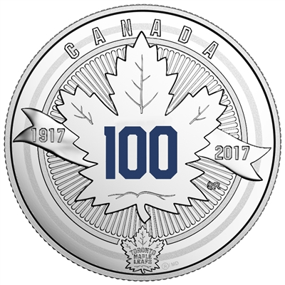 2017 Canada $3 100th Anniversary of the Toronto Maple Leafs Fine Silver (No Tax)