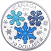 2018 Canada $20 Ice Crystals Fine Silver Coin (No Tax)