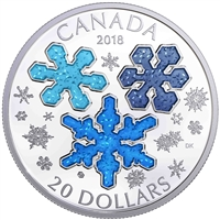 RDC 2018 Canada $20 Ice Crystals Fine Silver Coin (No Tax) - Mark