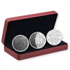 2017 Canada $25 3-Phases of the Moon Fine Silver 3-coin Set (No Tax)