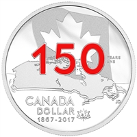 2017 Canada Red Enameled SE Proof Silver Dollar Our Home & Native Land (No Tax)