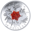 2018 Canada $50 Holiday Splendour 5oz. Fine Silver with Murano Glass (No Tax)