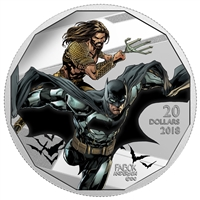 RDC 2018 Canada $20 The Justice League - Batman and Aquaman Fine Silver (No Tax) Impaired