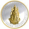 2017 $25 The Great Seal of Canada Gold-Plated Fine Silver Coin (No Tax)