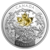 2018 Canada $30 Golden Maple Leaf 2oz Gold Plated Fine Silver Coin