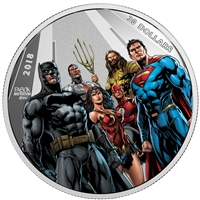 2018 Canada $30 The Justice League - World's Greatest Super Heroes 2oz Silver (No Tax)
