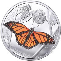 RDC 2017 Canada $50 Monarch Migration Fine Silver Coin (No Tax) Impaired