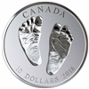 2018 Canada $10 Welcome to the World Baby Feet Fine Silver (TAX Exempt)