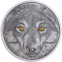(Pre-Order) 2017 Canada $15 In The Eyes of the Wolf Fine Silver (No Tax)