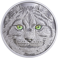 RDC 2017 Canada $15 In The Eyes of the Lynx Fine Silver (No Tax) Scratched Coin