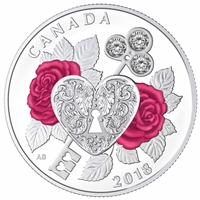 2018 $3 Celebration of Love Fine Silver Coin (TAX Exempt)