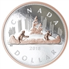 2018 Canada $1 Big Coin Rose-Gold Plated 5oz. Fine Silver (No Tax)