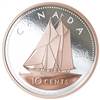 2018 Canada 10-cent Big Coin Rose-Gold Plated 5oz. Fine Silver (No Tax)