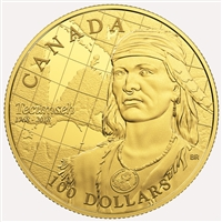 2018 Canada $100 250th Anniversary of the Birth of Tecumseh 14k Gold Coin