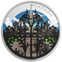 2018 Canada $30 The Queen's Gate - Formal Entrance to Parliament Hill Silver (No Tax)