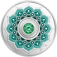 2018 Canada $5 Birthstone - May Fine Silver with Swarovski Crystal (No Tax)