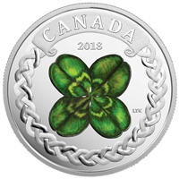 2018 Canada $20 Lucky Clover Silver Coin (TAX Exempt)