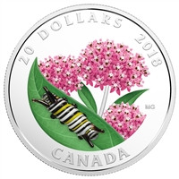 2018 Canada $20 Little Creatures - Monarch Caterpillar (No Tax) Scuffed capsule