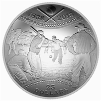 2018 Canada $25 180th Anniversary of Canadian Baseball Fine Silver (No Tax)