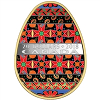 2018 Canada $20 Golden Spring Pysanka Egg (TAX Exempt)