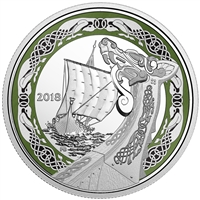 RDC 2018 Canada $20 Norse Figureheads - Northern Fury Fine Silver (No Tax) Toned