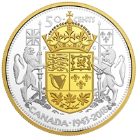 2018 Canada 50-cent 75th Anniversary of the 1943 Half Dollar (TAX Exempt)