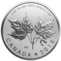RDC 2018 Canada $10 Maple Leaves Silver Coin (TAX Exempt) - Scuffed Cover