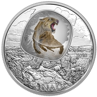 2018 Canada $20 Frozen in Ice - Scimitar Sabretooth Cat Fine Silver Coin (No Tax)