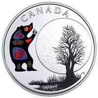2018 Canada $3 Thirteen Teachings of Grandmother Moon - Bear Moon Fine Silver (No Tax)