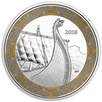 2018 Canada $20 Norse Figureheads - The Dragon's Sail (TAX Exempt)