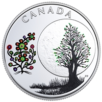 2018 Canada $3 Thirteen Teachings from Grandmother Moon - Flower Moon Silver (No Tax)