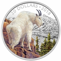 RDC 2018 Canada $20 Majestic Wildlife - Mettlesome Mountain Goat Fine Silver (No Tax) Scratched Capsule