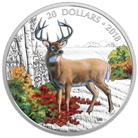(Pre-Order) 2018 Canada $20 Majestic Wildlife - Wandering White-Tailed Deer Fine Silver (No Tax)