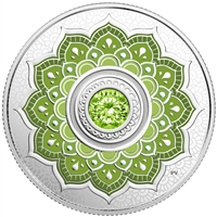2018 Canada $5 Birthstone - August Fine Silver with Swarovski Crystal (No Tax)