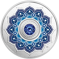 2018 Canada $5 Birthstone - September Fine Silver with Swarovski Crystal (No Tax)