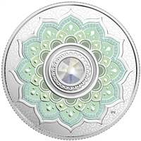 2018 Canada $5 Birthstone - October Fine Silver with Swarovski Crystals (No Tax)