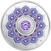 (Pre-Order) 2018 Canada $5 Birthstone - December Fine Silver with Swarovski Crystal (Tax Exempt)
