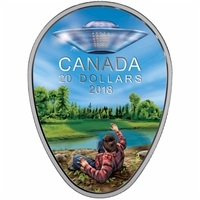 2018 $20 Canada's Unexplained Phenomena - The Falcon Lake Incident Fine Silver (No Tax)