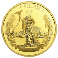 2018 Canada $20 A Modern Allegory - Borealia Gold Plated Fine Silver (No Tax)