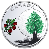 2018 Canada $3 Thirteen Teachings from Grandmother Moon - Raspberry Moon Silver (No Tax)