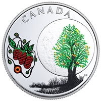 2018 Canada $3 Thirteen Teachings from Grandmother Moon - Strawberry Moon Coin (No Tax)