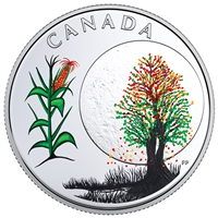 2018 Canada $3 Thirteen Teachings from Grandmother Moon: Corn Moon Silver (No Tax)