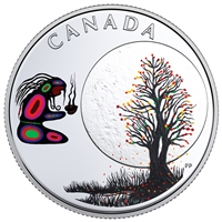 2018 Canada $3 Thirteen Teachings from Grandmother Moon: Falling Leaves Moon (No Tax)