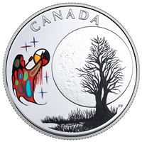 2018 Canada $3 Thirteen Teachings from Grandmother Moon: Freezing Moon Silver (No Tax)