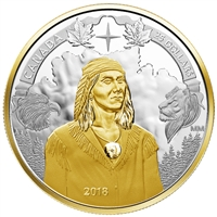2018 Canada $25 Piedfort 250th Anniversary of Tecumseh's Birth Fine Silver (No Tax)