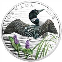 (Pre-order) 2018 Canada $10 Beauty and Grace - The Common Loon Fine Silver (No Tax)