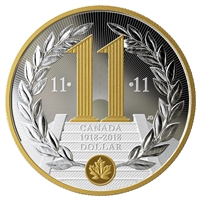 2018 Canada WWI Armistice 100th Anniversary Special Edition Proof Silver Dollar (No Tax)