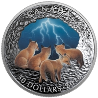 RDC 2018 Canada $50 Nature's Light Show - Stormy Night Fine Silver (No Tax) Toned