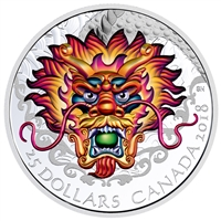 RDC 2018 Canada $25 Dragon Boat Fine Silver Coin (No Tax) toned
